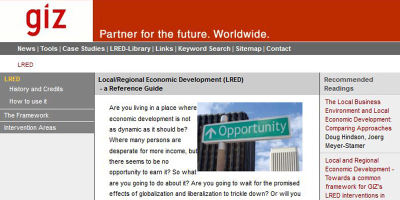 Local/Regional Economic Development (LRED)