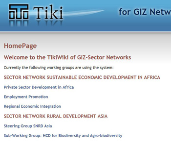 TikiWiki for GIZ Working Groups